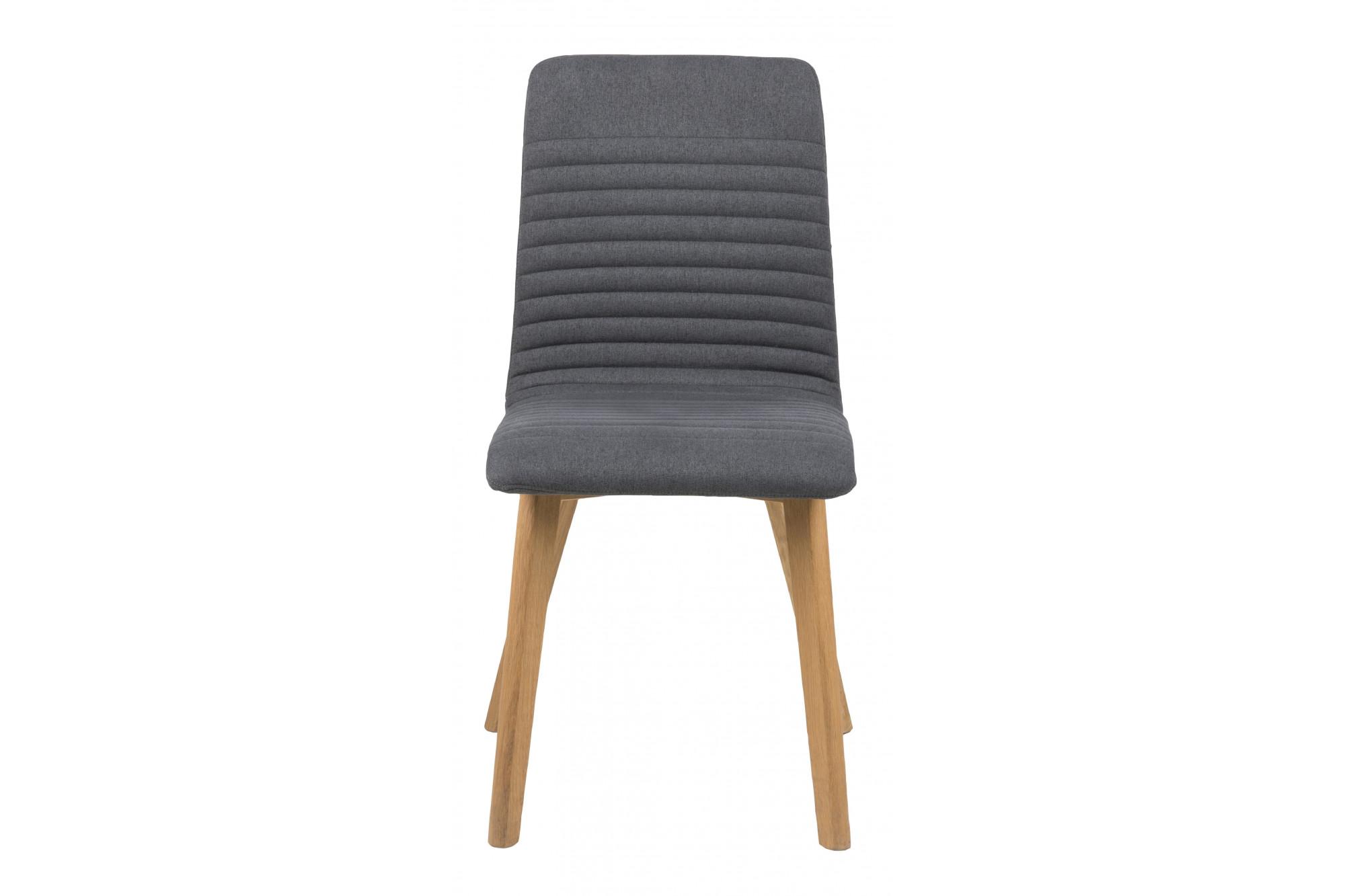 lot de 2 chaises bois de ch ne et tissu gris anthracite. Black Bedroom Furniture Sets. Home Design Ideas