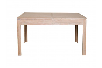 Table carrée extensible en chêne blanchi BOSTON L140/200