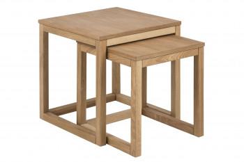 Table basse CORNER carré en chêne 50cm.