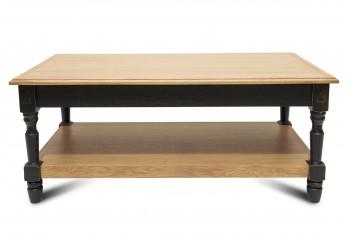 Table basse Victoria 1 tiroir - bois chêne naturel