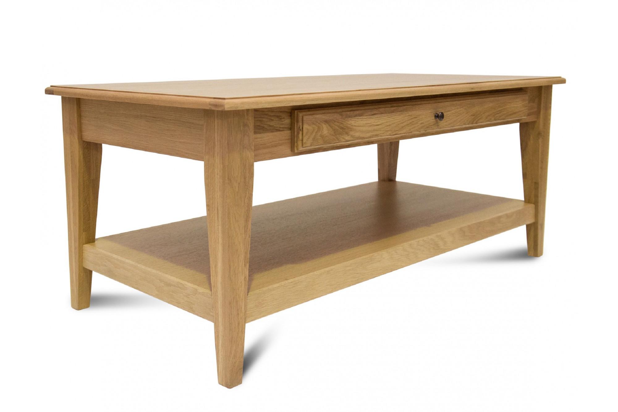 Une table basse victoria moderne coloris chêne noir hellin