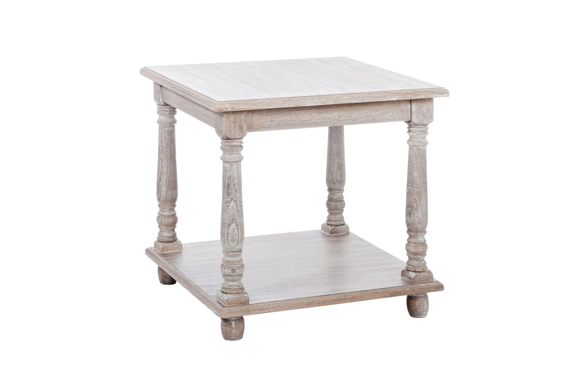 sélection premium 5b6ef 0b649 Bout de canapé carré en bois blanchi - Hellin