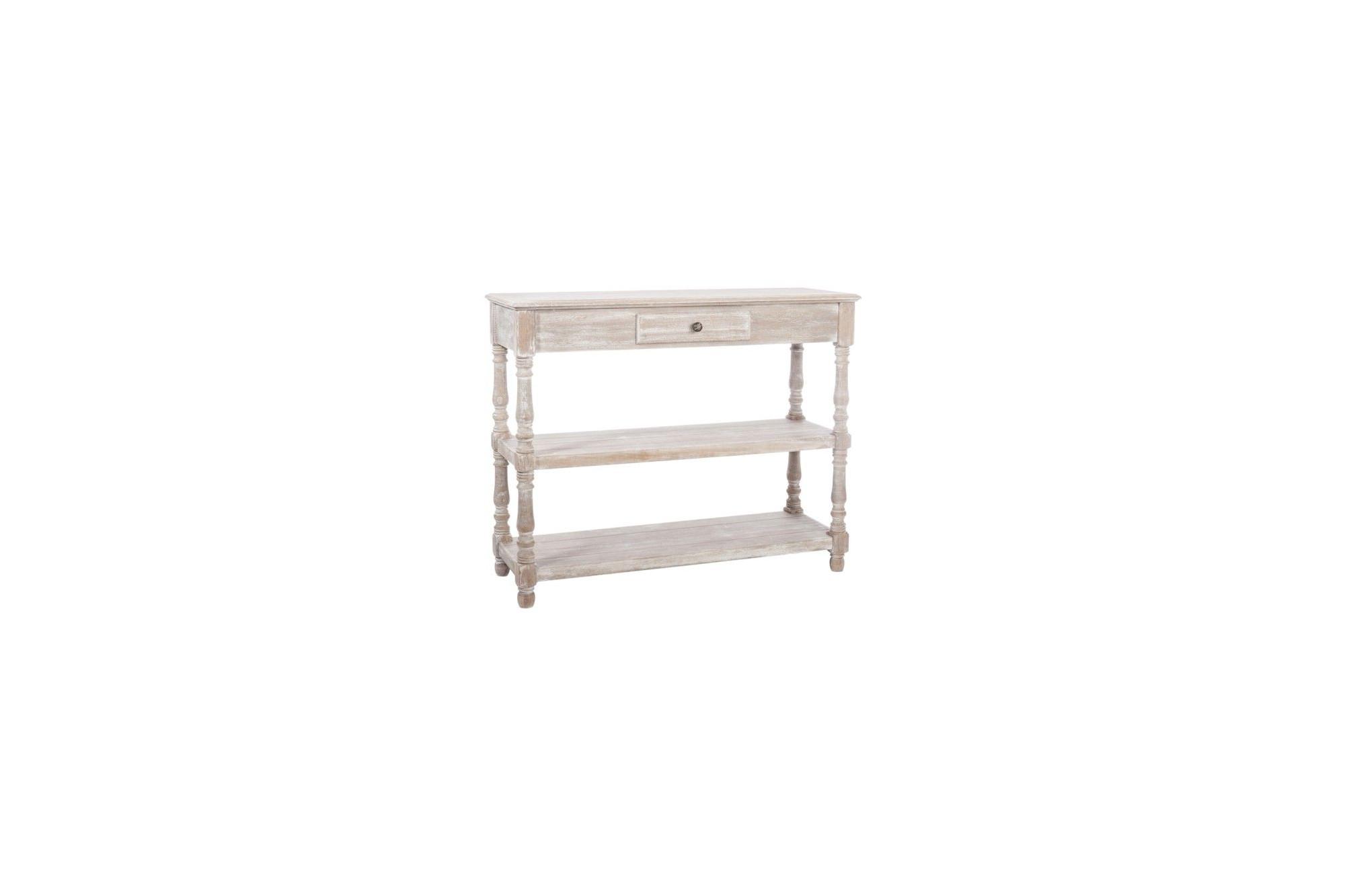 console romantique en bois blanchi - hellin
